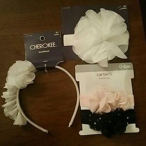 New! Set of 3 Infant Headbands & Headwraps - H1